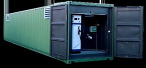 Stockage de carburant dans conteneur métallique